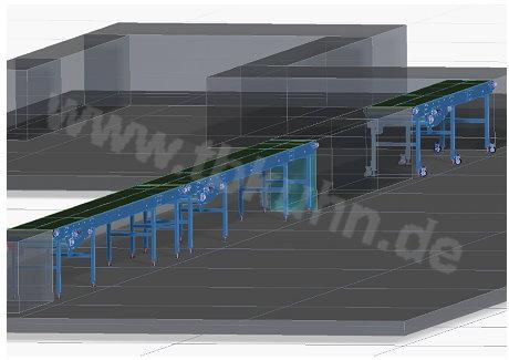 Fördertechnik 3D Modell