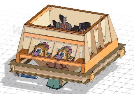 Mischer Konstruktion 3D Modell Maschinenbau