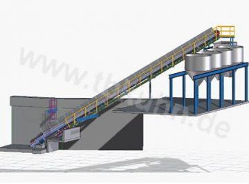 Förderanlage Konstruktion 3D Modell Anlagenbau