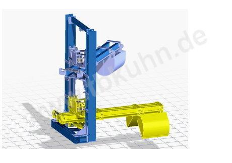 Schöpfmanipulater Konstruktion 3D Modell Maschinenbau