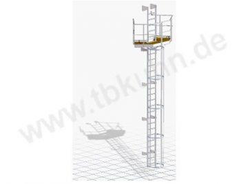 Wartungsbühne Konstruktion 3D Modell Stahlbau