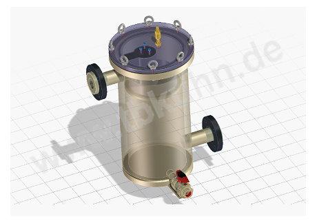 Magnet Siebfilter 3D Modell