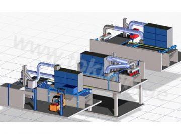 Absorber Nachruestung Konstruktion 3D Modell Anlagenbau