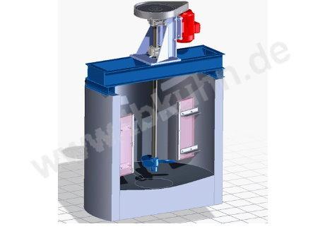 Löserquirl Konstruktion 3D Modell Maschinenbau