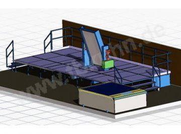 Zubehör Stanze Konstruktion 3D Modell Anlagentechnik
