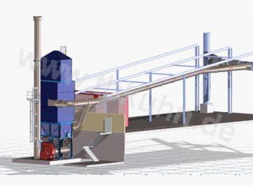 Fluorfilteranlage Konstruktion 3D Modell Anlagenbau